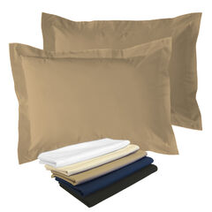 2-Pack Tailored  65/35 Poly/Cotton Sham, MOCHA
