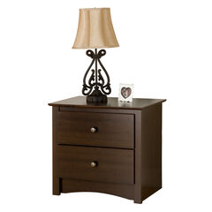 Fremont Espresso 2 Drawer Night Stand,