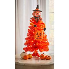 Halloween Pumpkin Figure Tabletop Tree,