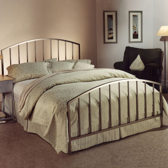 Full Bed with Bed Frame, 76'Lx52'Wx48'H, ANTIQUE PEWTER