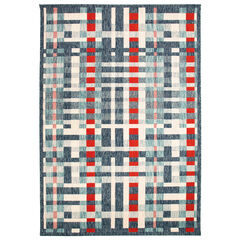 Liora Manne Portofino Plaid Indoor/Outdoor Rug,