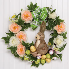 Easter Egg & Bunny Wreath, MULTI