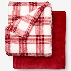Fleece Blanket + Fleece Throw, CABERNET
