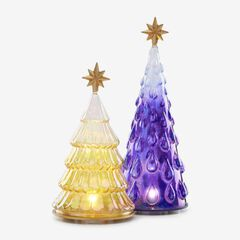 Lenox® 2-Pc. Lighted Glass Tree Set,