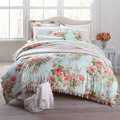 Brianna Cabbage Rose Comforter Collection,