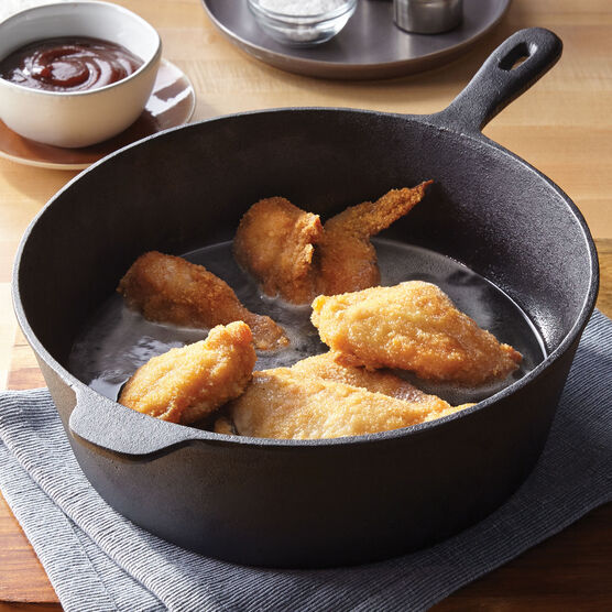"12"" Cast Iron Chicken Fryer, BLACK"