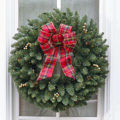 Large Pre-Lit Double-Sided Wreath,