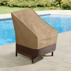 Outdoor High Back Chair Cover,
