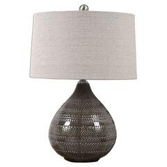Batova Smoke Gray Lamp,