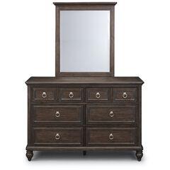 Southport Brown Dresser & Mirror,