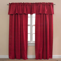 BH Studio Room-Darkening Rod-Pocket Valance, CHERRY