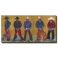 COWBOYS OUTDOOR ART 48X24,