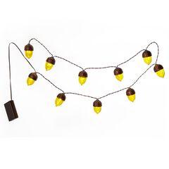 Harvest Acorn String Lights,
