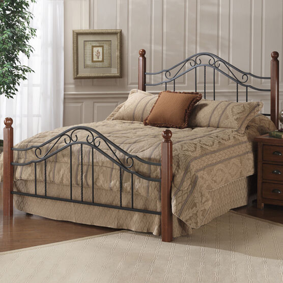 """Twin Bed with Bed Frame, 76""""Lx40¼""""Wx50½""""H, IRON"""