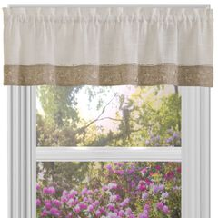 "Oakwood 58"" x 14"" Window Curtain Valance,"