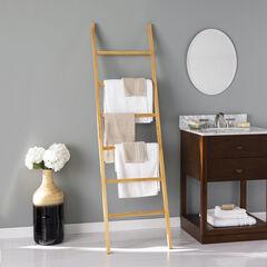 Bedwell Freestanding Wooden Ladder Rack,