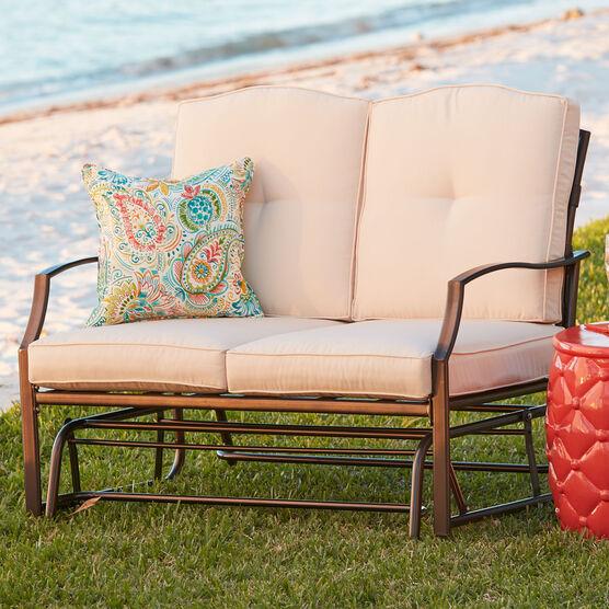 Patio Furniture Loveseat Glider.Loveseat Glider