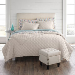 Paige Diamond Lace Quilt, DOVE