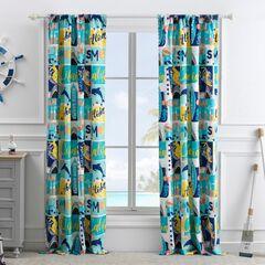 Wave Rider Curtain Panel,