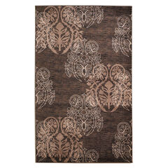 Milan Brown/Beige 5'X8' Area Rug,