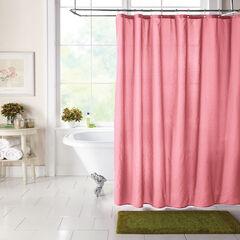BH Studio Textured Shower Curtain, BEGONIA