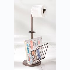 Toilet Paper Holder with Magazine Rack,
