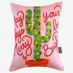 Christmas Cactus Decorative Pillow,