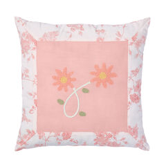 "Emma Embroidered 16""Sq. Pillow,"