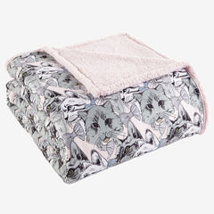 Micro Flannel® Reverse to Sherpa Blanket, CAT COLLAGE