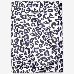 Satin Leopard Sheet Set, SNOW LEOPARD