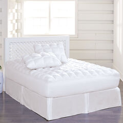 200-TC Cotton Puff Mattress Pad, WHITE