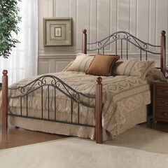 Queen Bed with Bed Frame, 83½'Lx60¼'Wx50½'H,