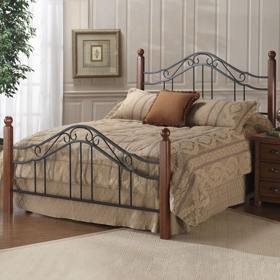 "Queen Bed with Bed Frame, 83½""Lx60¼""Wx50½""H, IRON"
