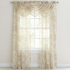 Stowe Printed Crushed Ascot Valance ,