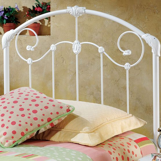 Twin Headboard with Headboard Frame, 63½'Lx39'Wx50'H, WHITE