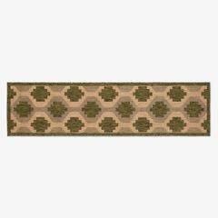 "Carmel Indoor/Outdoor Geo Rug 1'11"" x 7'6"", GREEN"
