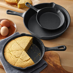 3-Pc. Cast Iron Skillet Set,