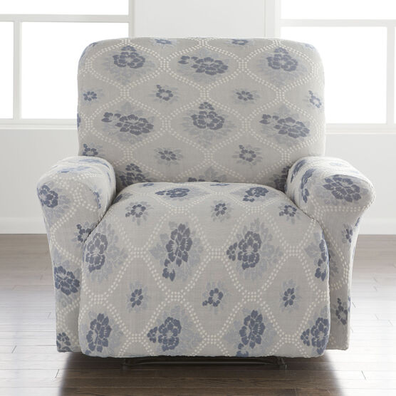 Floral Stretch Recliner Slipcover,