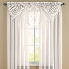 BrylaneHome® Studio Sheer Voile Beaded Valance,