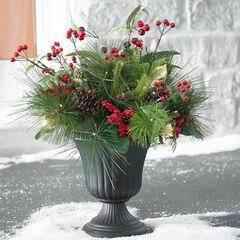 Winter Berry Urn Arrangement,