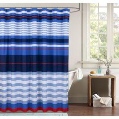 Harbor Stripe Shower Curtain,