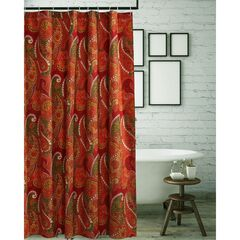 Tivoli Cinnamon Shower Curtain by Greenland Home Fashions,