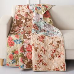Greenland Home Fashions Briar Quilted Patchwork Throw Blanket,