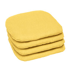 Set of 4 Stacking Chair Pads, LEMON