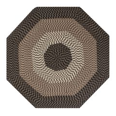 """Alpine Braid Collection Reversible Indoor Area Rug 72"""" Octagonal by Better Trends,"""