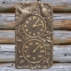 Cardinal Combo Clock And Thermometer,