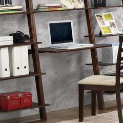 Arlington Wall Shelf with Desk,