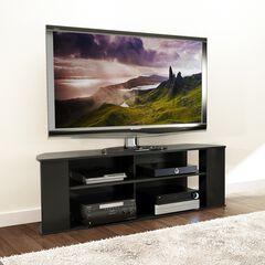 Prepac Essentials 60-inch TV Stand, Black,
