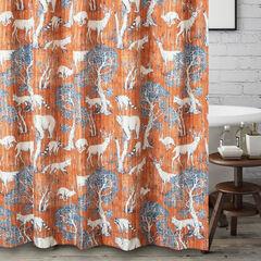 Menagerie Saffron Bath Shower Curtain,