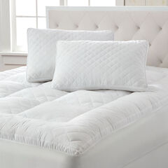 Small Diamond Quilted Mattress Topper,